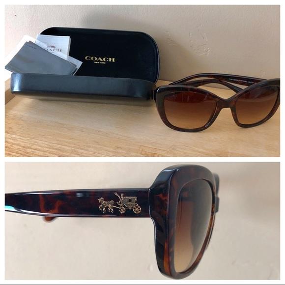 bbfcdb848 Coach Accessories | Horse Carriage Sunglasses Tortoise | Poshmark
